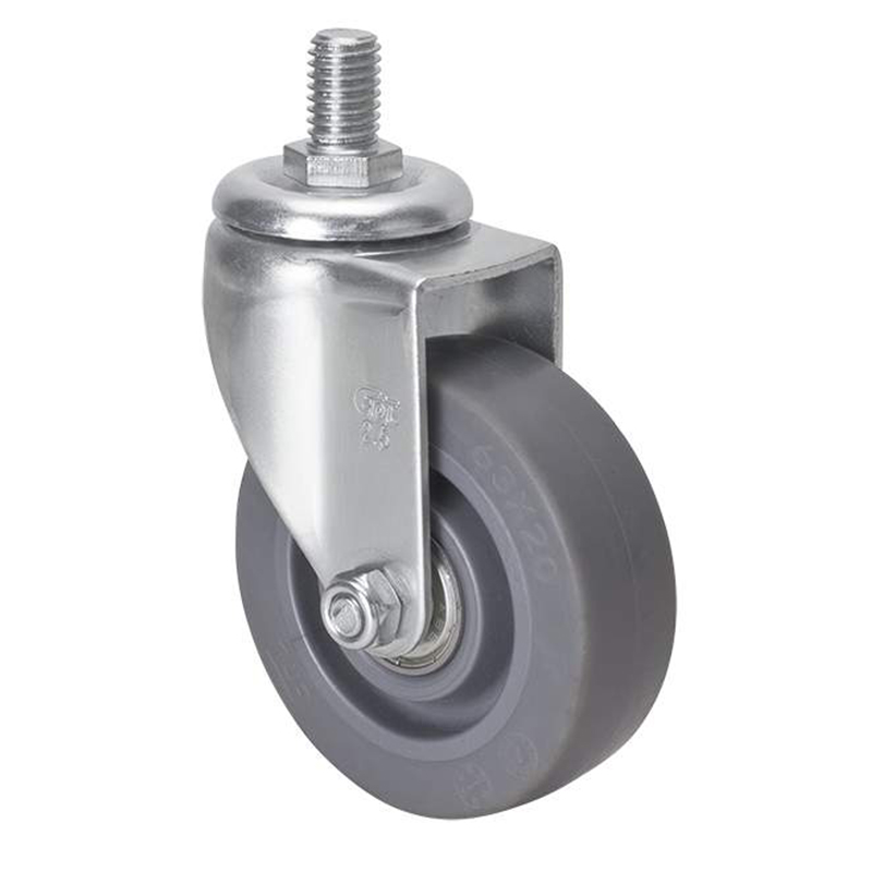 EDL Mini 2.5'' 35kg Threaded Swivel TPE Caster 261325-2625-56