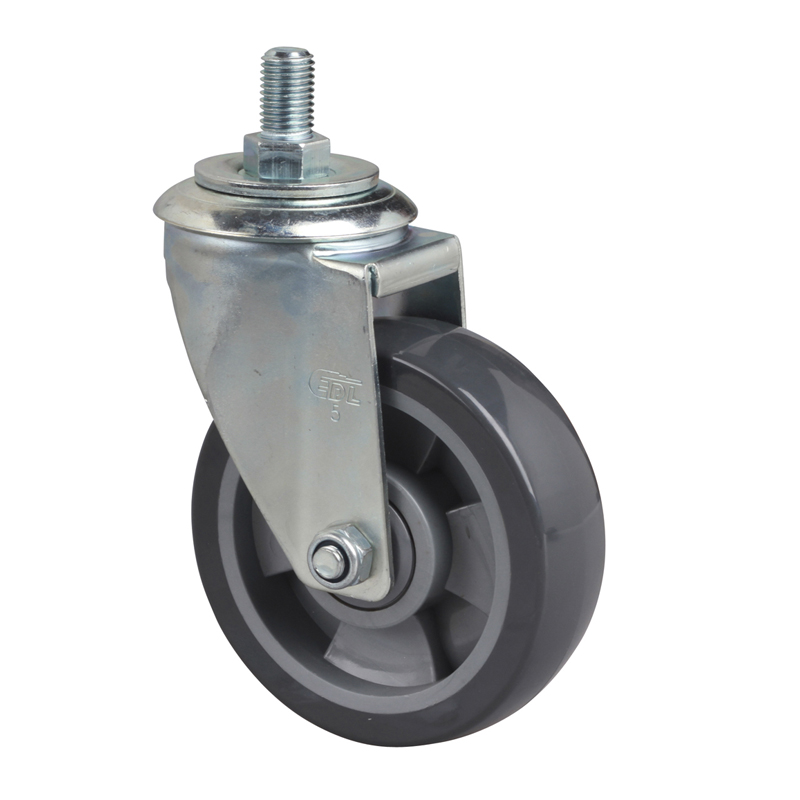 EDL Medium 5'' 200kg Threaded Swivel PU Caster 64135-645-76