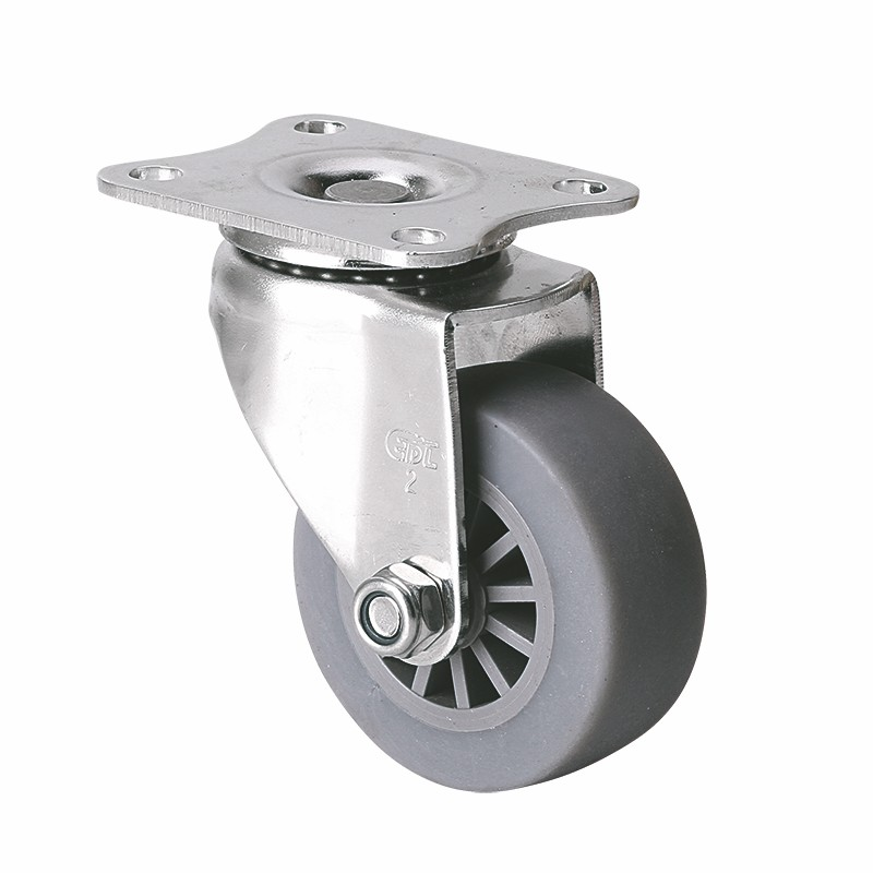 EDL Stainless Steel Mini 2'' 50kg Plate Swivel TPE Caster S26712-S262-53